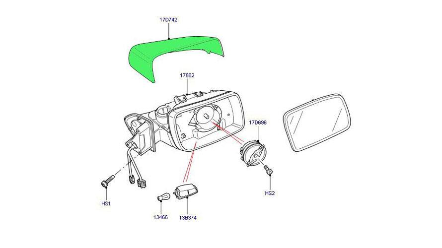 Land Rover mirror frame