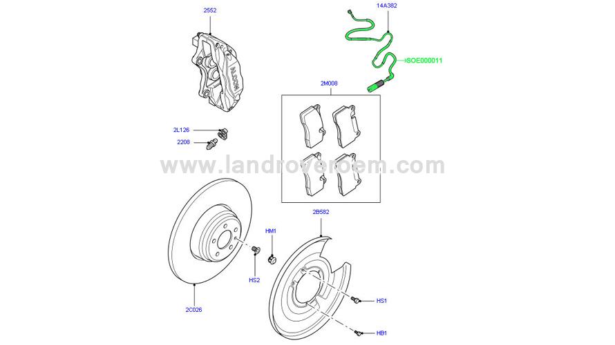 Brake Pad Sensor SOE000011.